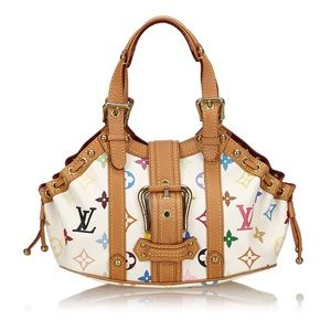 Louis Vuitton Theda PM White Multicolor Handbag